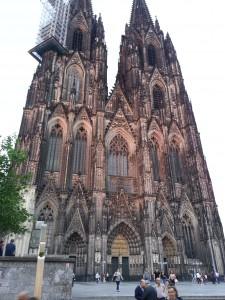 The High Cathedral of St. Peter in Cologne, Germany, still stands after nine centuries--with the help of constant scaffolding.